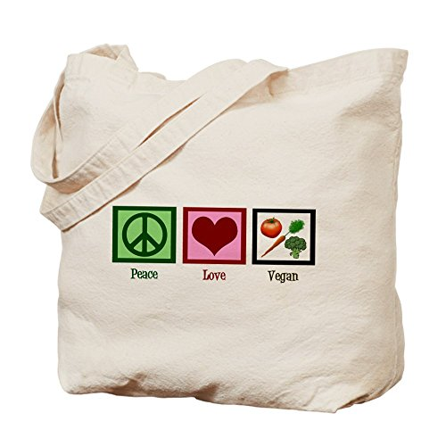 CafePress Peace Natural Canvas Shopping