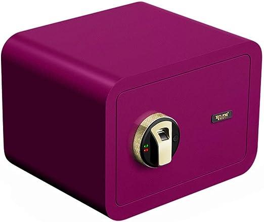 ZZHBXG Cajas Fuertes Caja de Seguridad, Huella Digital de 25 cm Mini Antirrobo contra La Pared Caja Fuerte Invisible con Teclado para Proteger El Dinero, Joyas, Pasaportes, 4 Colores Gabinete Seguro: Amazon.es: