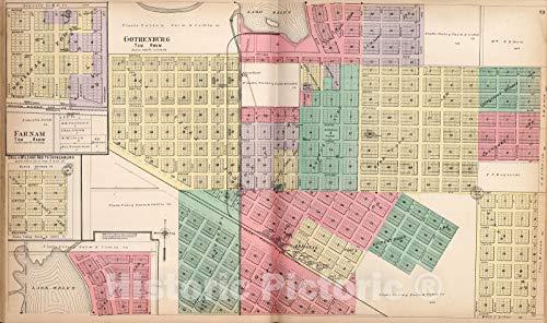 - Historic Map | Dawson County Nebraska, County Atlas Map, Gothenburg. Farnam. 1904 | Vintage Wall Art | 24in x 14in