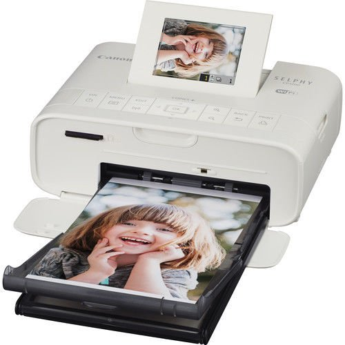 Canon Selphy CP1200 Wireless Compact Printer (White) with RP-108 and 3YR Canon Carepak Plus