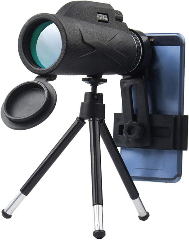 2 ZQEDY Telescopio monocular 80 x 100 Zoom HD visi/ón Nocturna c/ámara port/átil fotograf/ía al Aire Libre Rey Clip Ajustable Lente /óptica Impermeable 1 No nulo como se Muestra en la Imagen