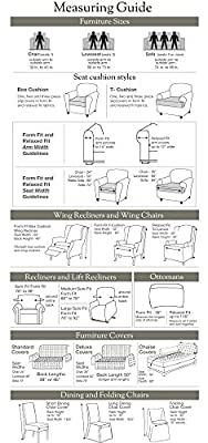 Sure Fit Stretch Delicate Leaf 1-Piece - Sofa Slipcover