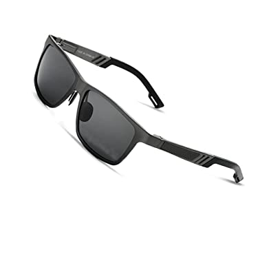 7a68ee7674 VEITHDIA 6560 Fashion Mirrored UV400 Polarized Driving Sunglasses for Men  Women (Black