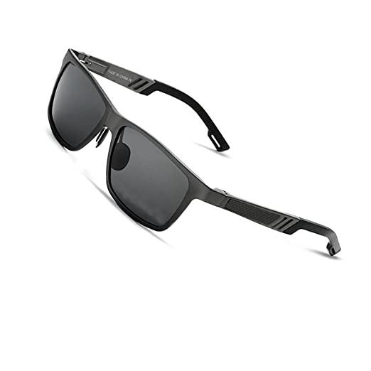 VEITHDIA 6560 Fashion Mirrored UV400 Polarized Driving Sunglasses for Men  Women (Black 864aeb9e02d