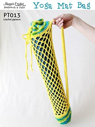 Free Crochet Pattern Yoga Mat Bag : Crochet Pattern Yoga Mat Bag PT013 - Kindle edition by ...
