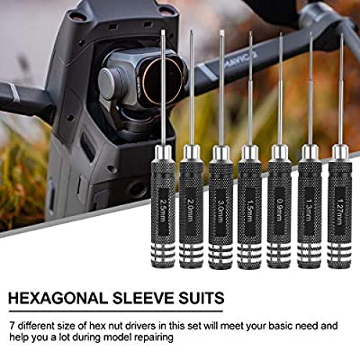 7pcs Hex Screw driver, RC Screwdriver Tools Kit Set (0.9mm 1.27mm 1.3mm 1.5mm 2.0mm 2.5mm 3.0mm) for RC Model, Helicopter, Bench Work, Precision Engineering: Home Improvement