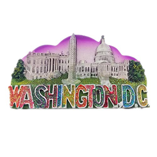 Washington DC USA America 3D Refrigerator Fridge Magnet Travel City Souvenir Collection Decoration White Board Sticker Resin
