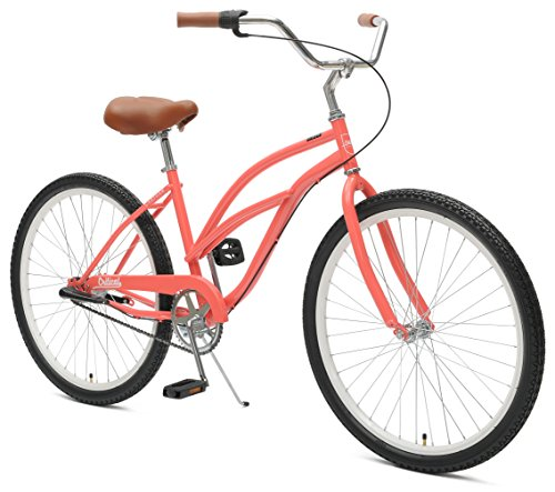 Critical Cycles 2342 Women's 3-Speed Chatham-3  Beach Cruiser Bike, 26-Inch, Coral