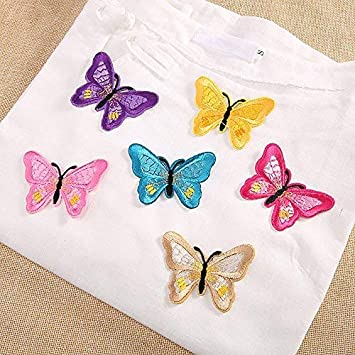 Lvcky 12 Pcs Broderie Papillon Diy Couture Iron On Patch