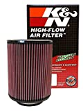 K&N RD-1460 Universal Clamp-On Air Filter: Round Straight; 4 in (102 mm) Flange ID; 9 in (229 mm) Height; 7 in (178 mm) Base; 7 in (178 mm) Top