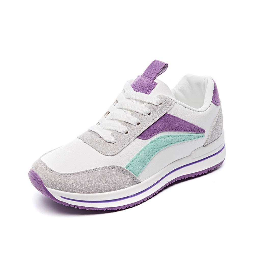 Damen Turnschuhe Frühling und Herbst die neue Farbe passende Sportschuhe atmungsaktives Mesh Outdoor Sportschuhe Mode Student Schuhe (Farbe   C Größe   36)
