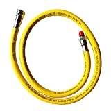 MagiDeal Scuba Diving 28'' Nylon Braided Regulator Low Pressure Hose 2nd Stage Yellow