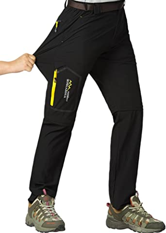 Womens Hiking Safari Pants Outdoor Zip Off to Shorts Lightweight Quick Dry Stretch Travel Pants