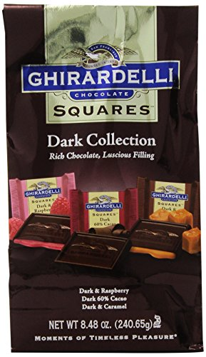 Ghirardelli Chocolate Squares, Dark Collection Assortment, 8.48 oz., (Pack of 3)