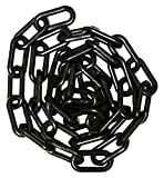 Mr. Chain 30003-25 Plastic Barrier Chain, High Density Polyethylene with UV Inhibitors, 1.5'' Link x 25', Black