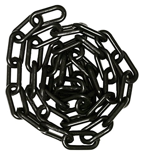 Chain Chandelier Links - Mr. Chain Plastic Barrier Chain, Black, 1.5-Inch Link Diameter, 25-Foot Length (30003-25)