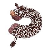 Jtc Animal Cartoon Soft Travel Pillow U Shape Neck Pillow 12 Design (Giraffe B)