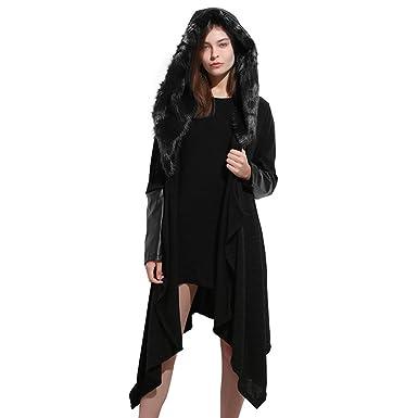 2a65afcebdf615 Damen Mantel,EUZeo Frauen mit Kapuze Mantel Webpelz Plus Größe Bluse Mantel  Nähen Wintermantel Damen Mantel Damen (XXL, Schwarz): Amazon.de: Bekleidung