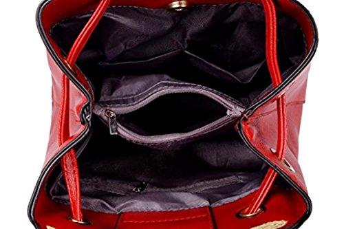 Lovely de Ear bolsa bolso baonmy mujer plateado gato de Prick PU negro niñas hombro Casual para la las nnxPFz