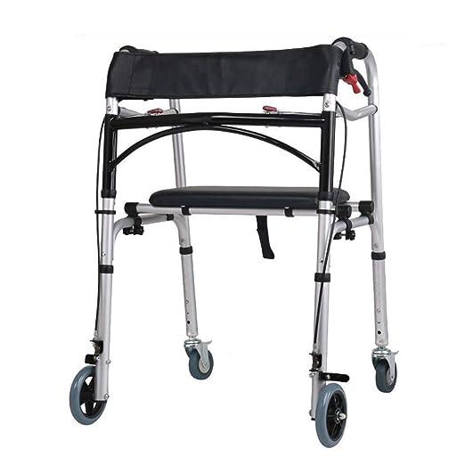 Andador para personas mayores, Caminador con ruedas en las cuatro ...