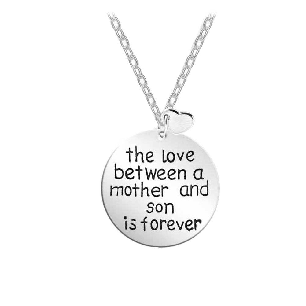 MayLove Mothers Day The Love Between Mother and Daughter is Forever Pendant Engraved Necklace Jewelry