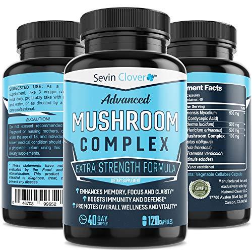 Organic Lions Mane Mushroom Capsules – Choq – Cordyceps | 120 Capsules 16mg – Immune System Booster – Promotes Mental…