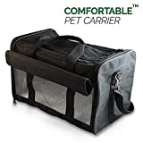PetsN'all Airline Approved Pet Carrier Soft-Sided Foldable and Comfort Dog Travel Carrier Superior Ventilation – Black For Sale