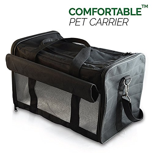 PetsN'all Airline Approved Pet Carrier Soft-Sided Foldable and Comfort Dog Travel Carrier Superior Ventilation - - Seating Superior