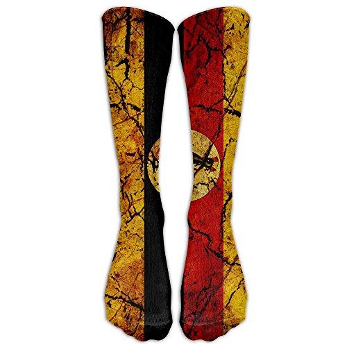 Uganda Long Socks Soccer Socks Stockings Knee Socks For Running Football Baseball Medical Athletic Travel Shin Splints Nursing (Uganda Christmas Traditions)