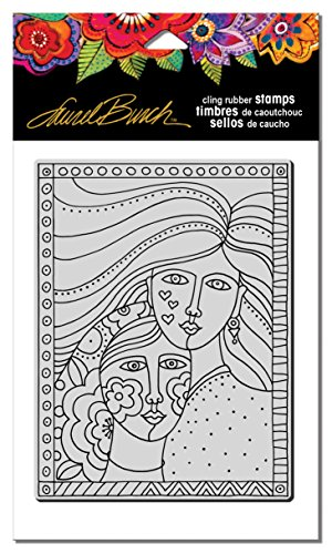 STAMPENDOUS Laurel Burch Cling Rubber Stamp Friendship
