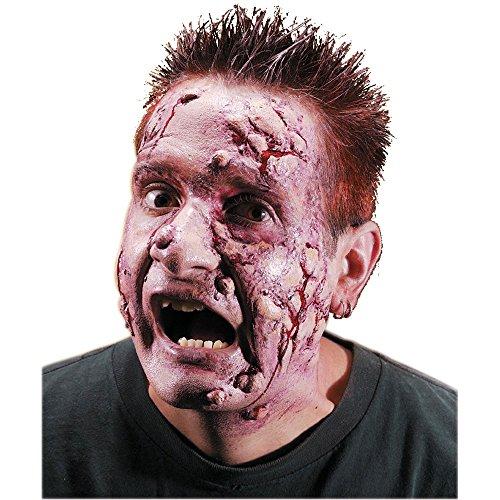 [Rubie's Costume Reel F/X Leper Rotting Face Kit, Red, One Size] (Zombie Prosthetics)