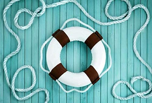 Swimming Ring and Green Wooden Board Wedding Baby Photography Background Custom Photography Studio Photography Background