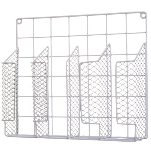 Cabinet Wrap Rack - Organizes 4 rolls of kitchen wrap - 13.5 x 11.5 x 3.5'' by MS Home