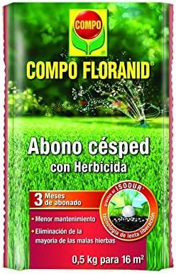 Compo 1128302011 Abono Césped Floranid + Herbicida 500G, 24x16x3 cm: Amazon.es: Jardín