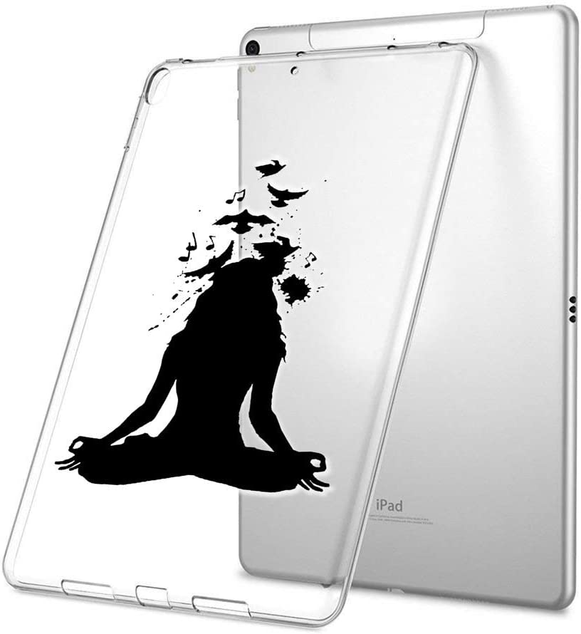 Feloowse iPad Pro 9.7 inch 2017 Case, Personalized Design Yoga Girl Pattern, UV Printed Flexible Protective Cover for iPad Pro 9.7 inch 2017-Clear
