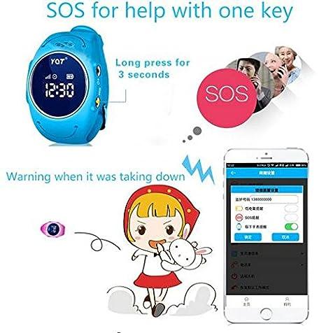 Niños reloj inteligente Q520s IP68 impermeable reloj de pulsera SOS ...