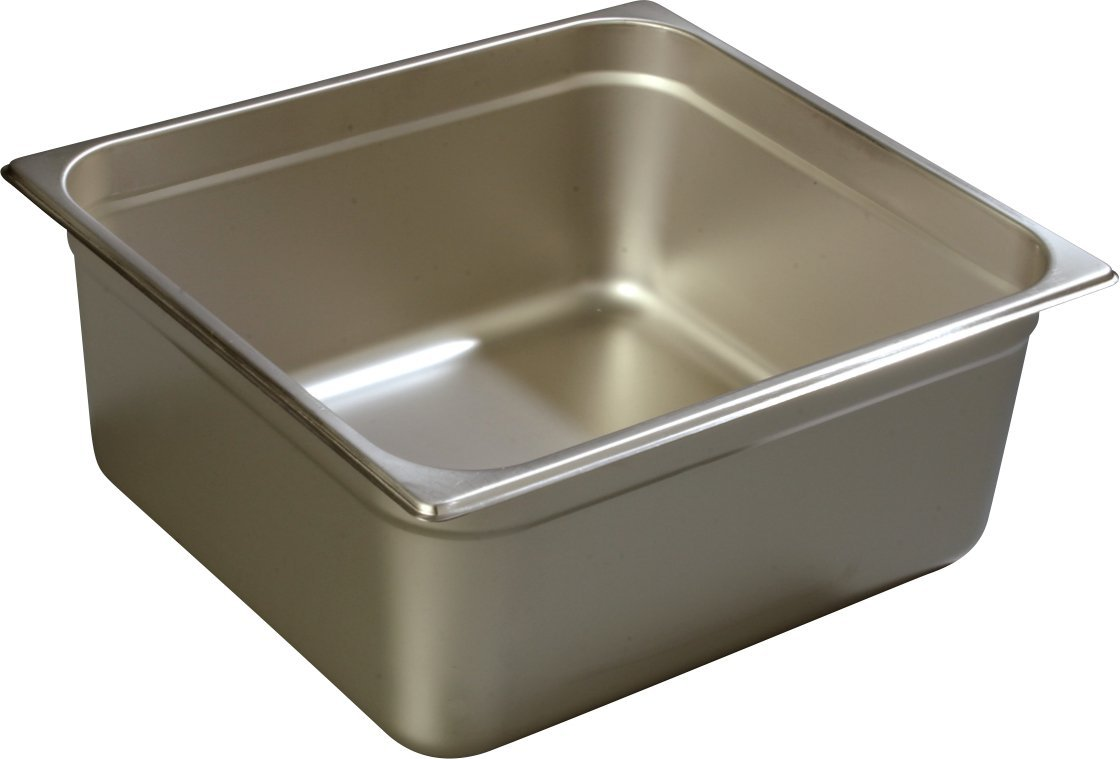 Carlisle 608236 DuraPan Heavy 22-Gauge 18-8 Stainless Steel Ninth-Size Food Pan, 16.2 qt. Capacity, 13-7/8 x 12-3/4 x 6'' (Case of 6)