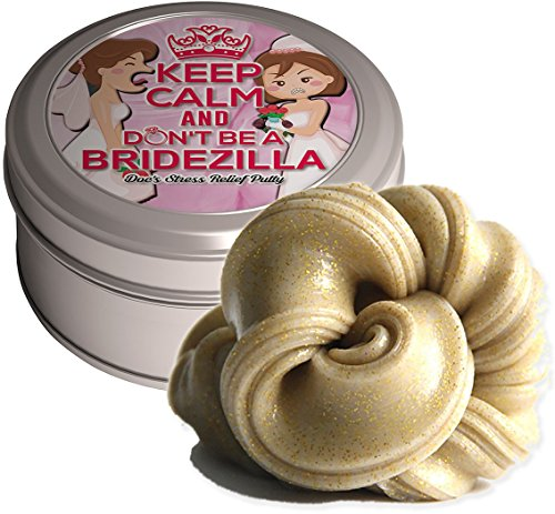 Don't Be A Bridezilla Stress Relief Putty – Stress Relief Bride Gifts Funny Gag Gifts for Bride-to-be Engagement Gift Gold Glitter Funny Bridezilla Weird Gift Bachelorette Party Wedding Bridal