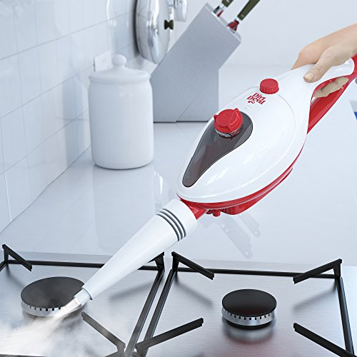 -[ Dirt Devil 11-in-1 Steam Cleaner, 0.33 Litre, White/Red  ]-