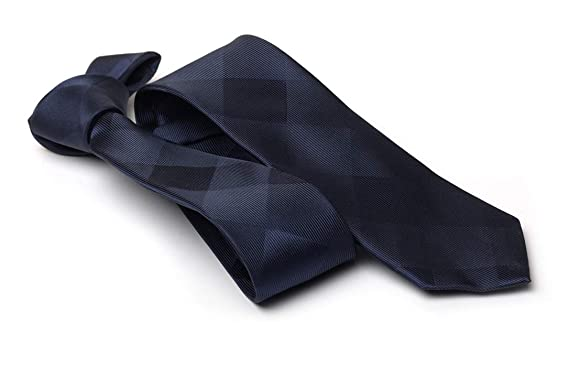Générique Corbata fina de damero para hombre, diseño tejido, color ...