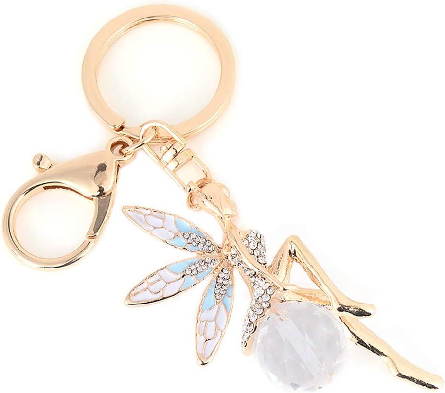 Bleu Gespout Porte-cl/és Design Ange Cr/éatif Charmes Accessoires Anniversaire Day Cadeau de No/ël Cl/é Porte-boucle Sac /à Main D/écor de Voiture
