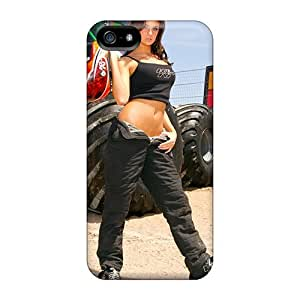 Durable Defender Cases For Iphone 5/5s Tpu Covers(monster Truck Beauty)