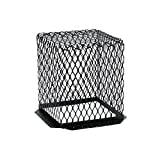 11'' x 11'' Black Painted Galvanized Steel Roof Vent Guard- 3 pk