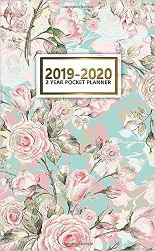 2019 2020 watercolor flowers 2 year pocket planner