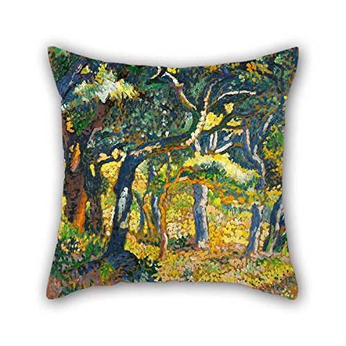 Wonderland Winter Room Roll (TonyLegner The Oil Painting Henri Edmond Cross - Une Clairi??re En Provence (?tude) Pillowcase 20 X 20 inches / 50 50 cm Decoration Gift Dining Room Bf Husband Floor Kids Gril Friend (Two Sides))