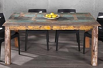 Esstisch vintage rund  Casa Padrino Massivholz Esstisch Vintage Teakholz Recycled 158 cm ...