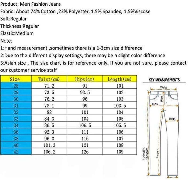 SUIWO Męskie Jeans Slim Denim Business Jeans klassisch Stretch Slim Fit Jeans Skinny Vintage Męskie Jeans Jeans Jeans Jeans Jeans Hose (Farbe: Blau 1, Größe: 28): Küche & Haushalt