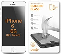"iPhone 6 screen protector, LABC iPhone 6 Tempered Glass, iPhone 6 HD Tempered Diamond Glass Technology NEWEST 0.2mm thinner thickness Protection Screen Protector by LABC - 4.7"" Inch Screen - Premium Ballistic Nano Anti Scratch / Scratch Free Ultra Sl"