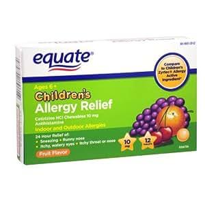 Amazon Com Equate Children S Allergy Relief 10 Mg 12