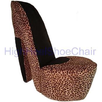 Amazoncom Leopard High Heel Shoe Chair Kitchen Dining